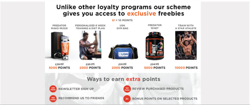 Predator Nutrition loyalty rewards program
