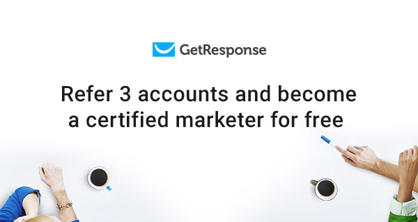 Become a certified marketer for free – join the referral program