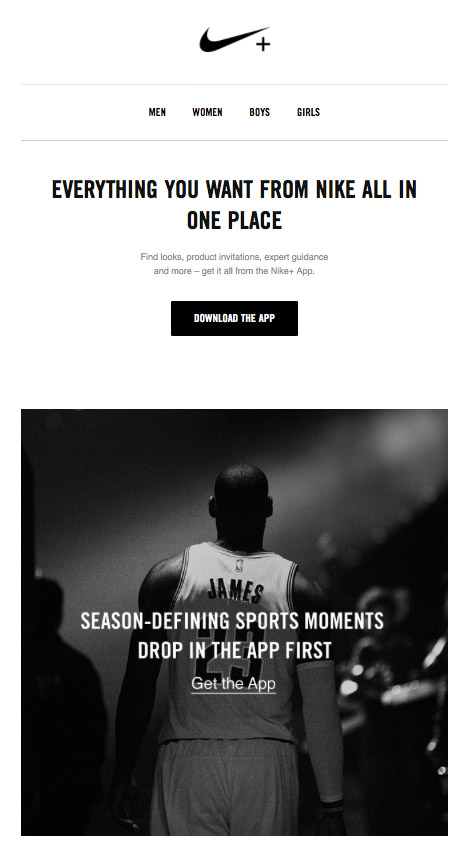 Nike Onboarding Email