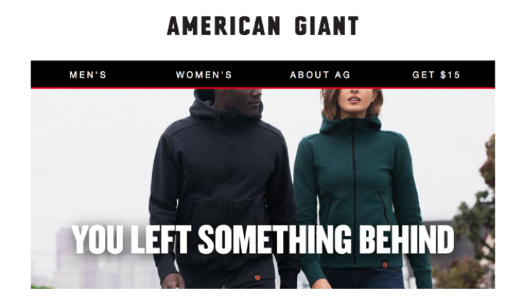 American Giant win-back eccomerce campaign reminder email
