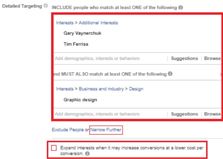 audiences interests facebook ad, finding effective freelancers