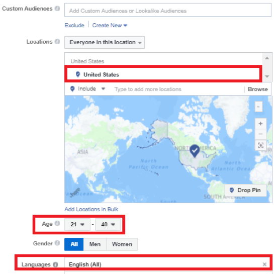facebook ad target location, finding effective freelancers