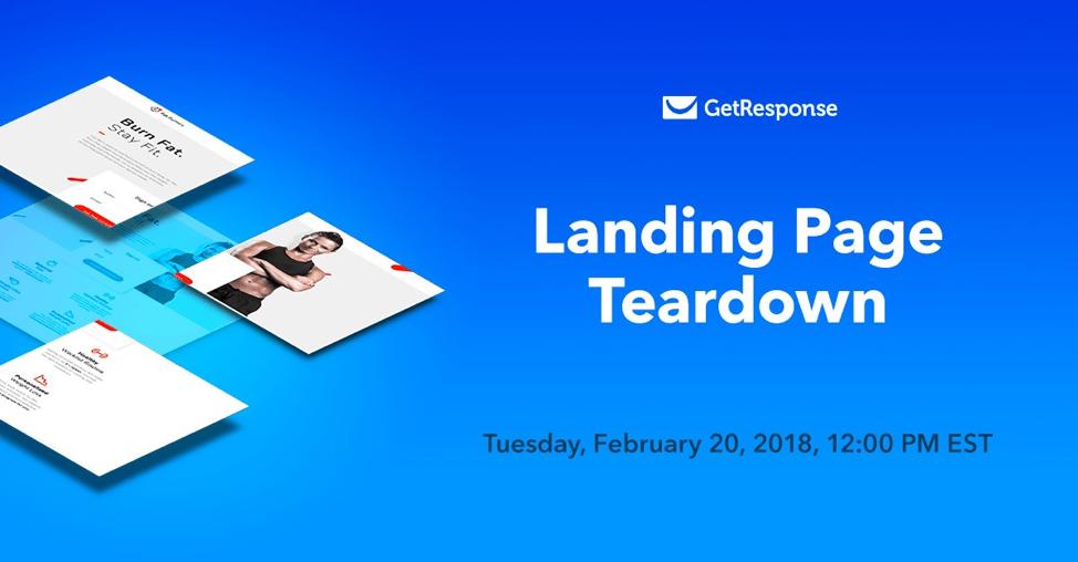 landing page teardown getresponse