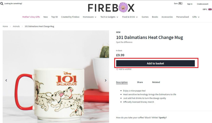 Product pages – CTA by Firebox