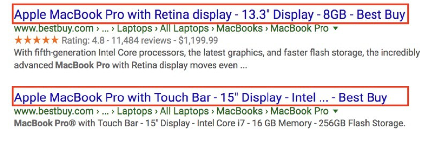 Product pages – SEO