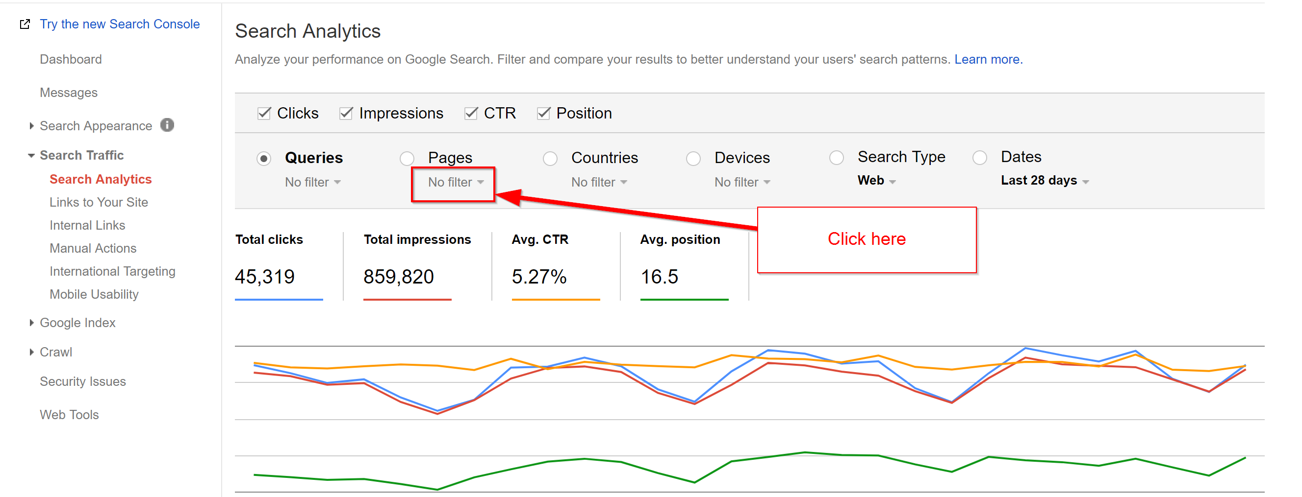Search Console 1 . Ranking for more keywords, seo traffic