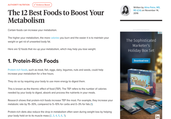 Update your existing content to keep things fresh, relevant, and ranking. Source: healthline.com