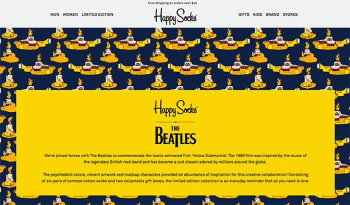 Happy Socks and the Beatles collaboration