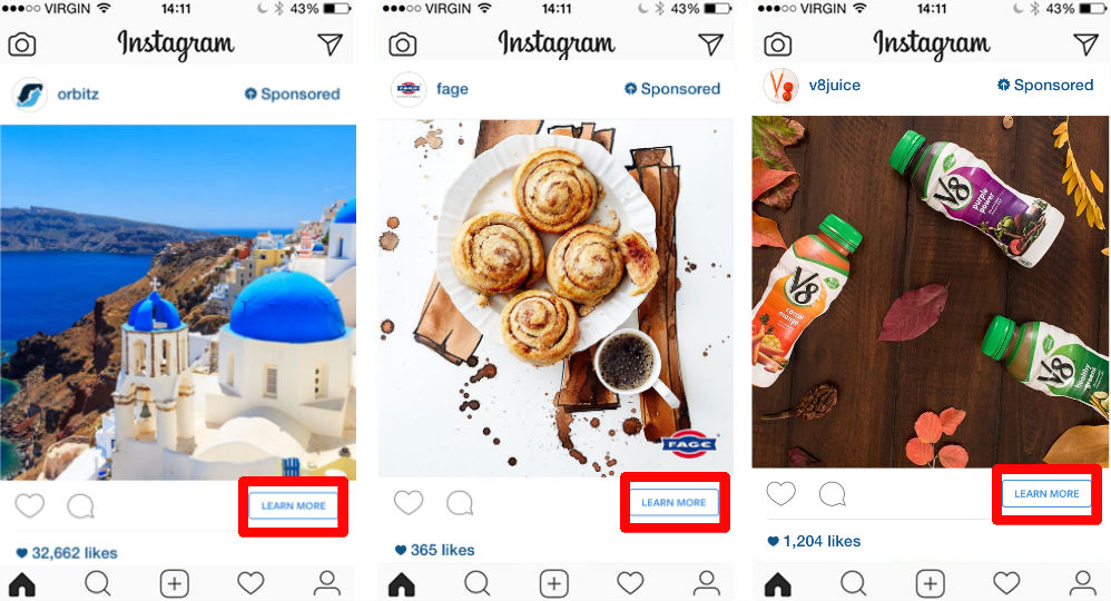 consideration goal – learn more instagram ads