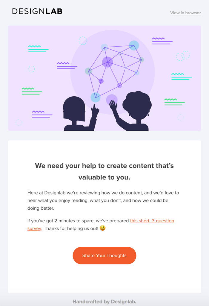 DesignLab Email Examples