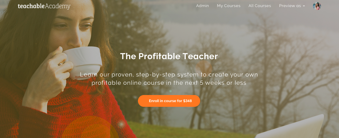 online course sales page