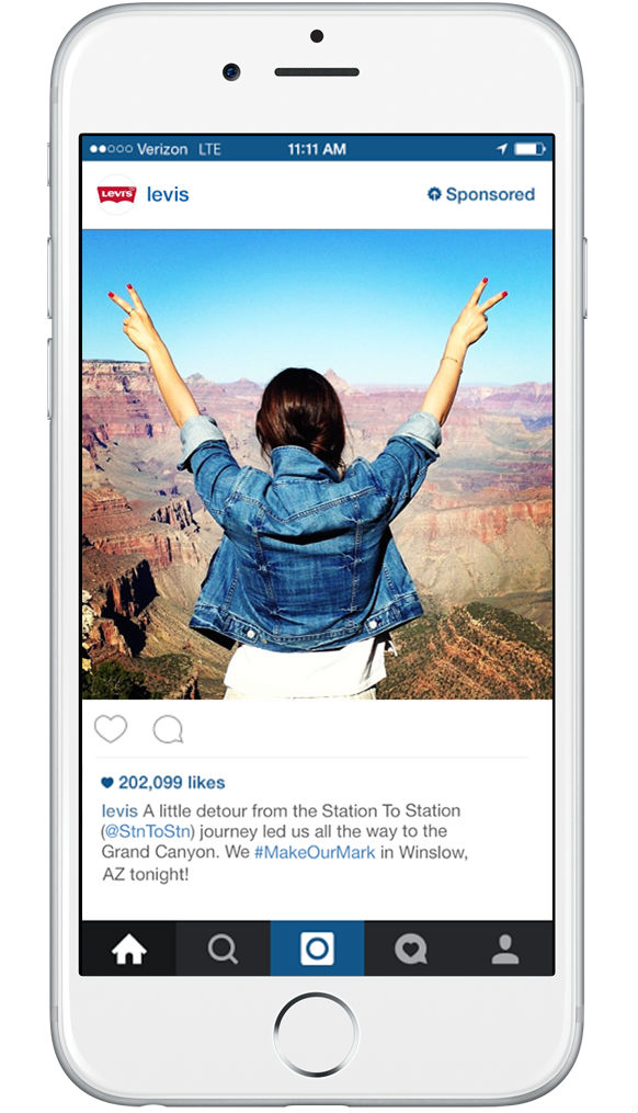 Levi's image instagram adLevi's instagram ad – the right image