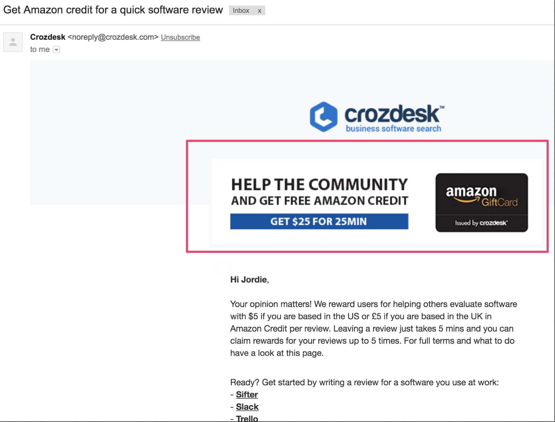 Crozdesk Email copy