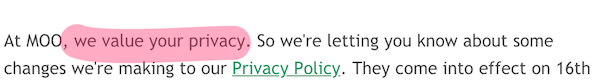 gdpr email cliche, we value your privacy
