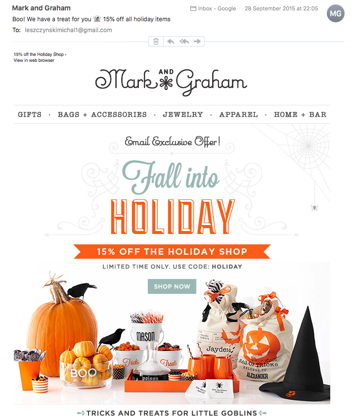 Halloween Email from Mark and Graham