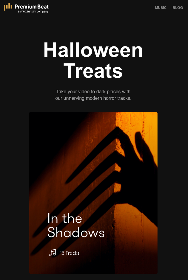 Newsletter Halloween Treats by Premium Beats