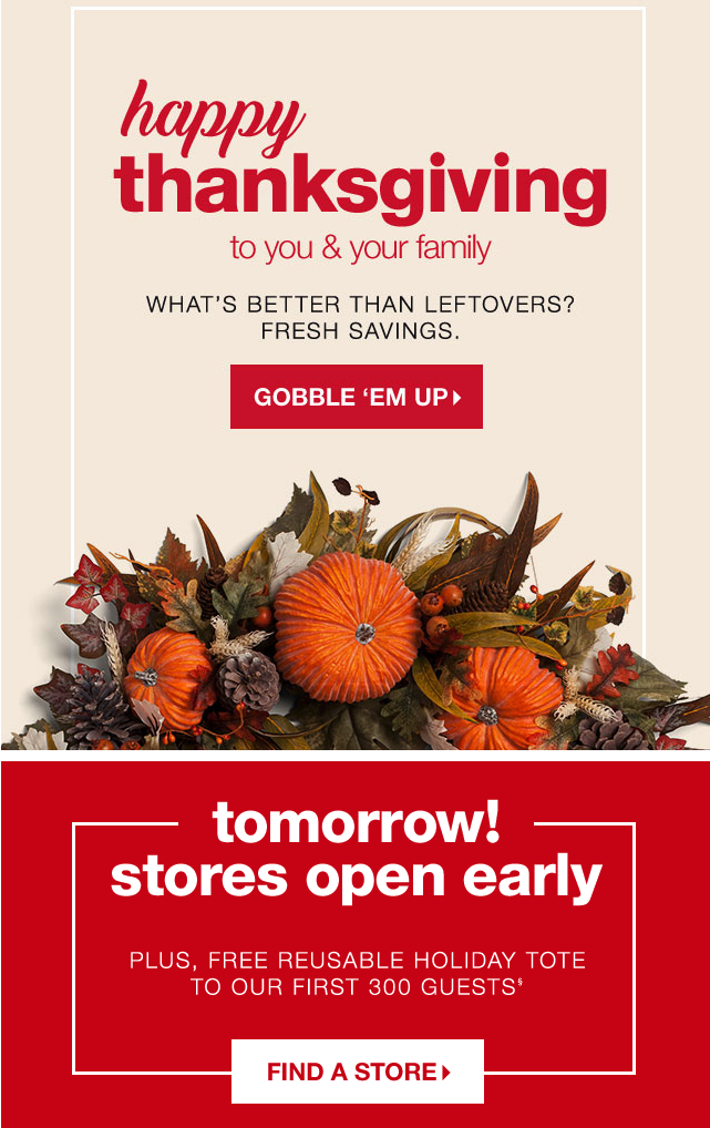 Tjmaxx creative Thanksgiving CTA button