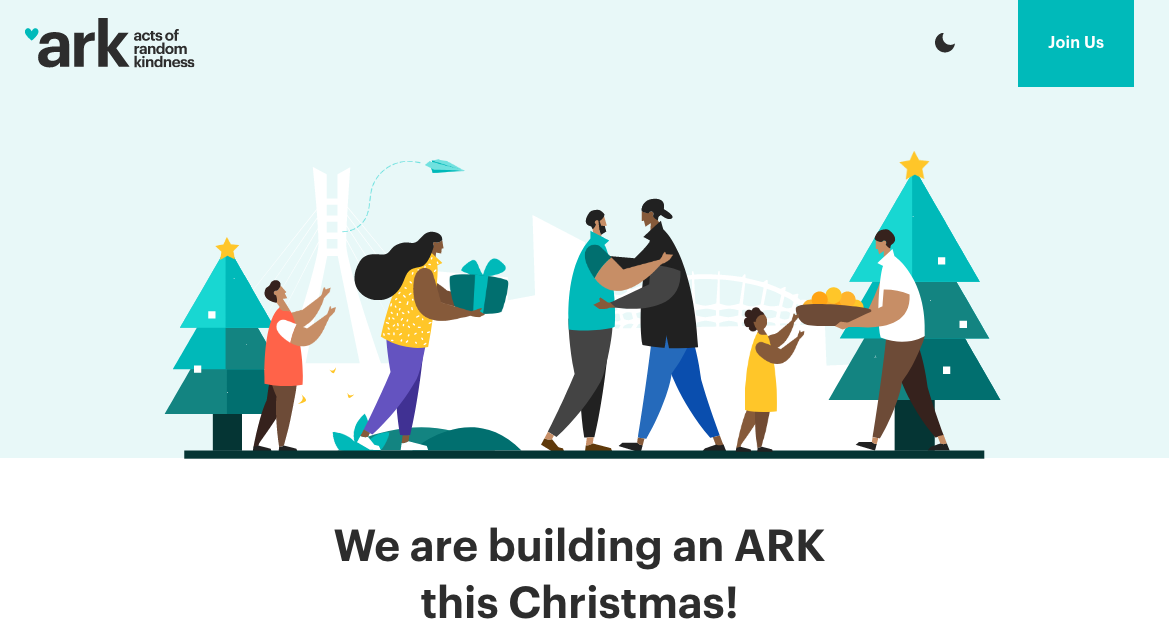 One of the best landing page designs: ARK