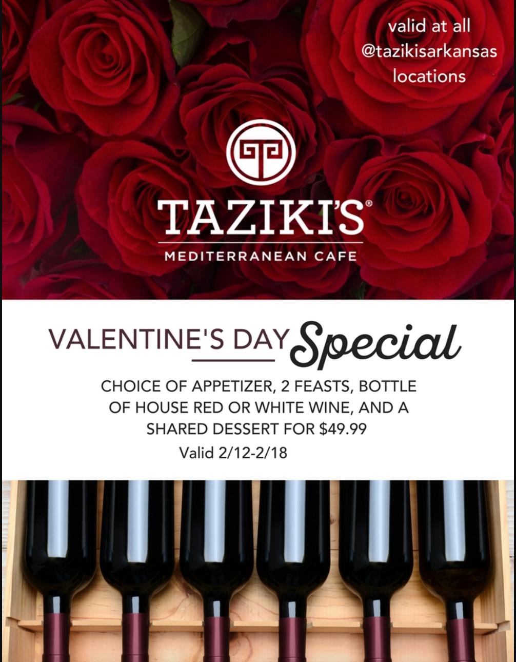 Taziki's valentine's day special email.