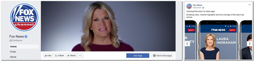 fox news landing page on facebook