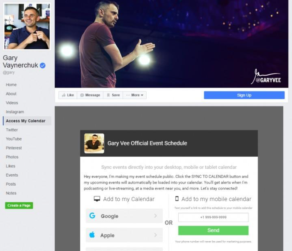 gary varneychuk facebook landing page
