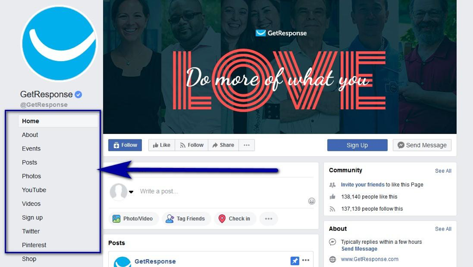 How to make a Facebook landing page via develop tab