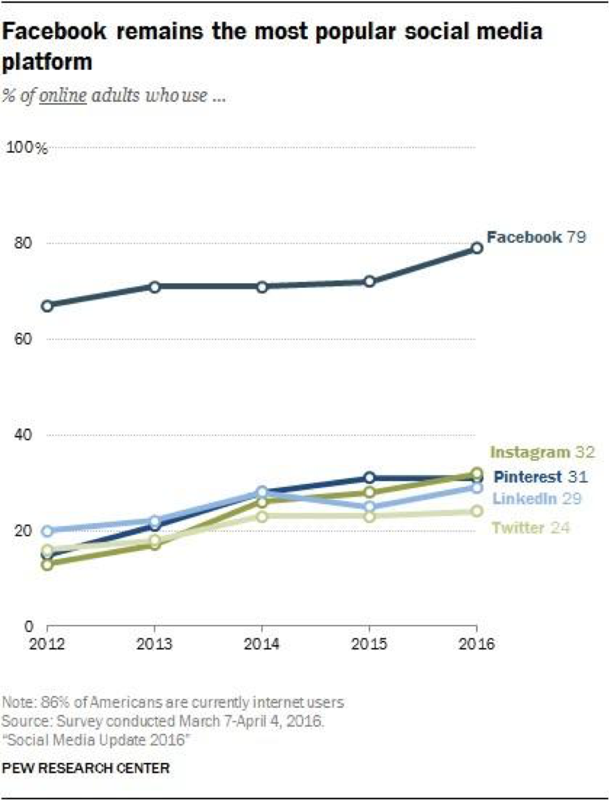 social media platforms usage
