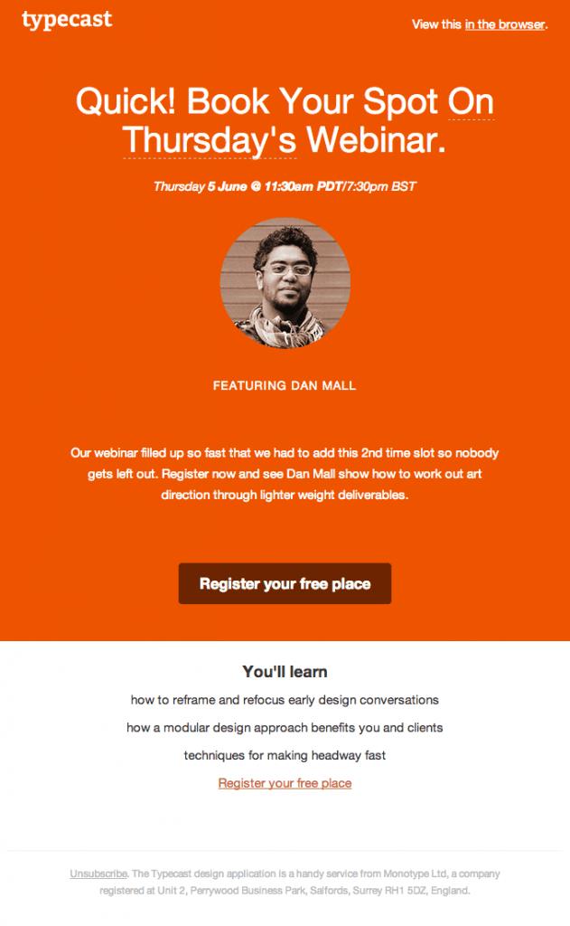 typecast webinar invite