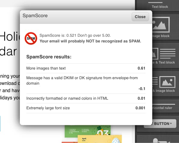 Spam score test avoid spam folder.