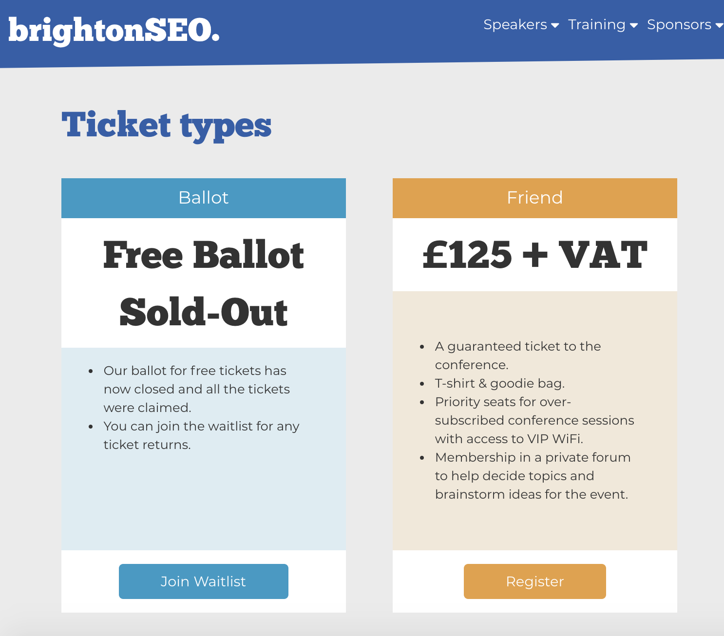 brightonseo waiting list lead magnet.