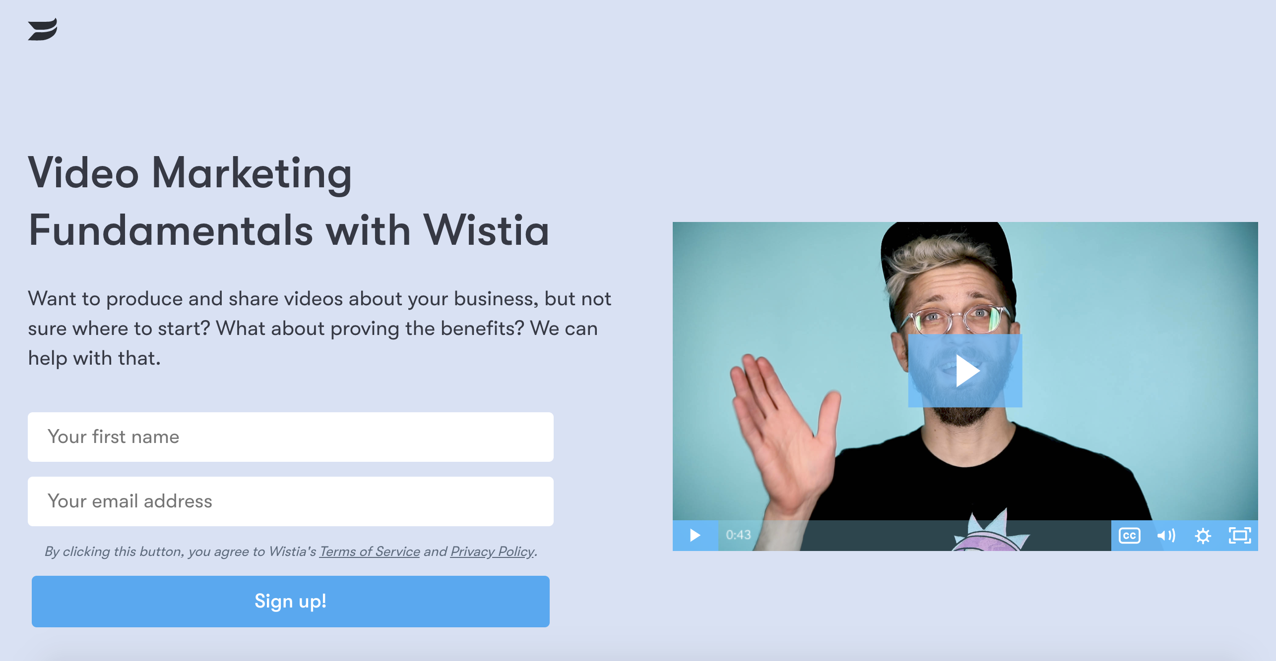 email course lead magnet wistia.