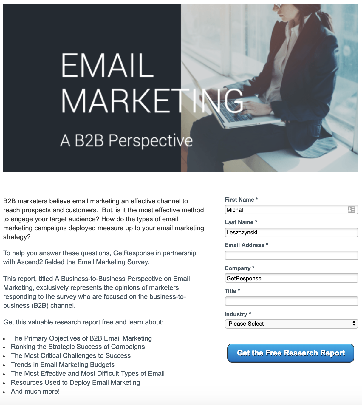 email marketing report getresponse ascend2.