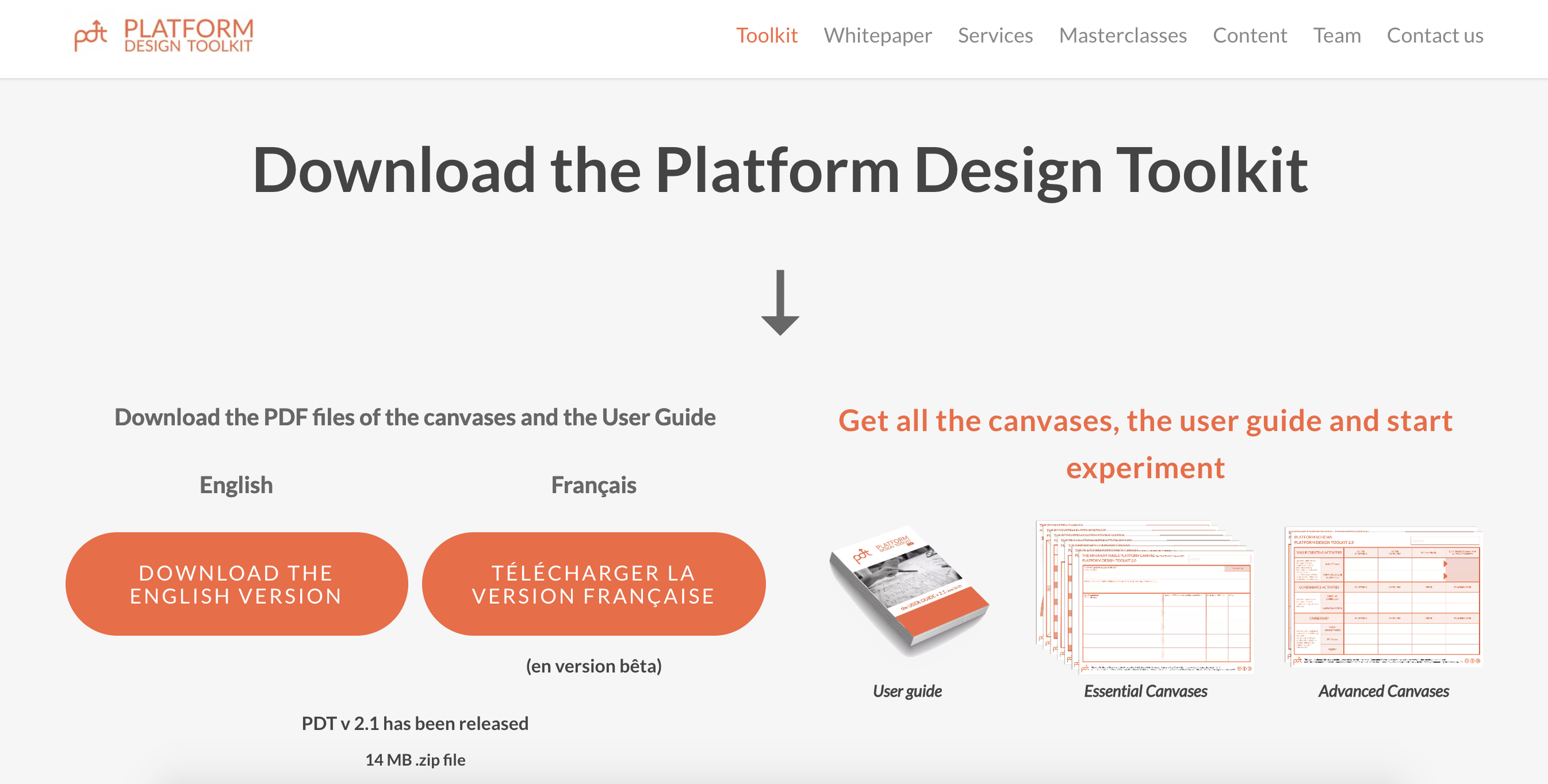 platform design toolkit lead magnet.