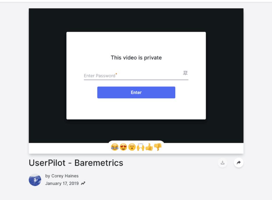 Baremetrics video email.