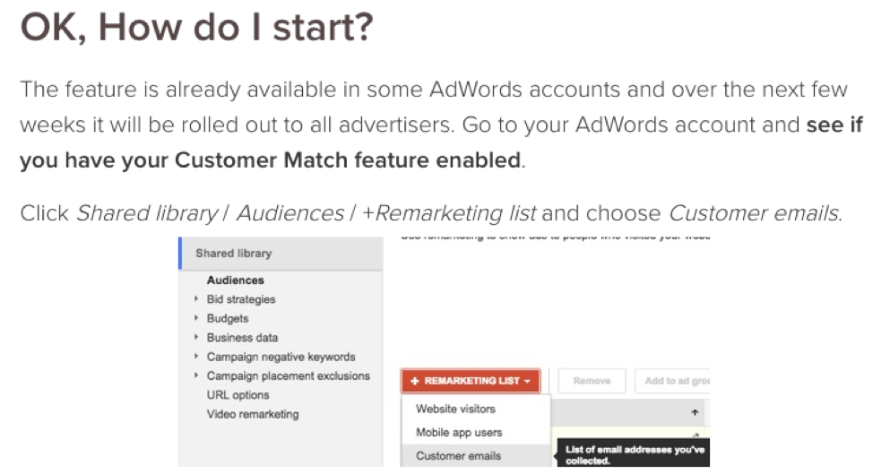 adwords remarketing.