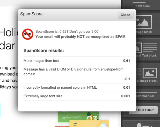 Spam Assassin tool in GetResponse.