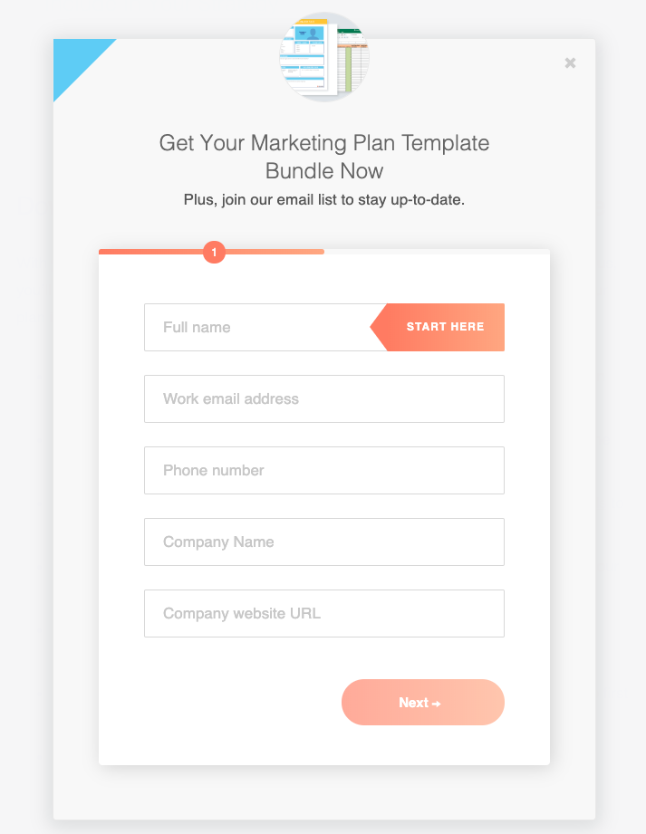Marketing planner template bundle.