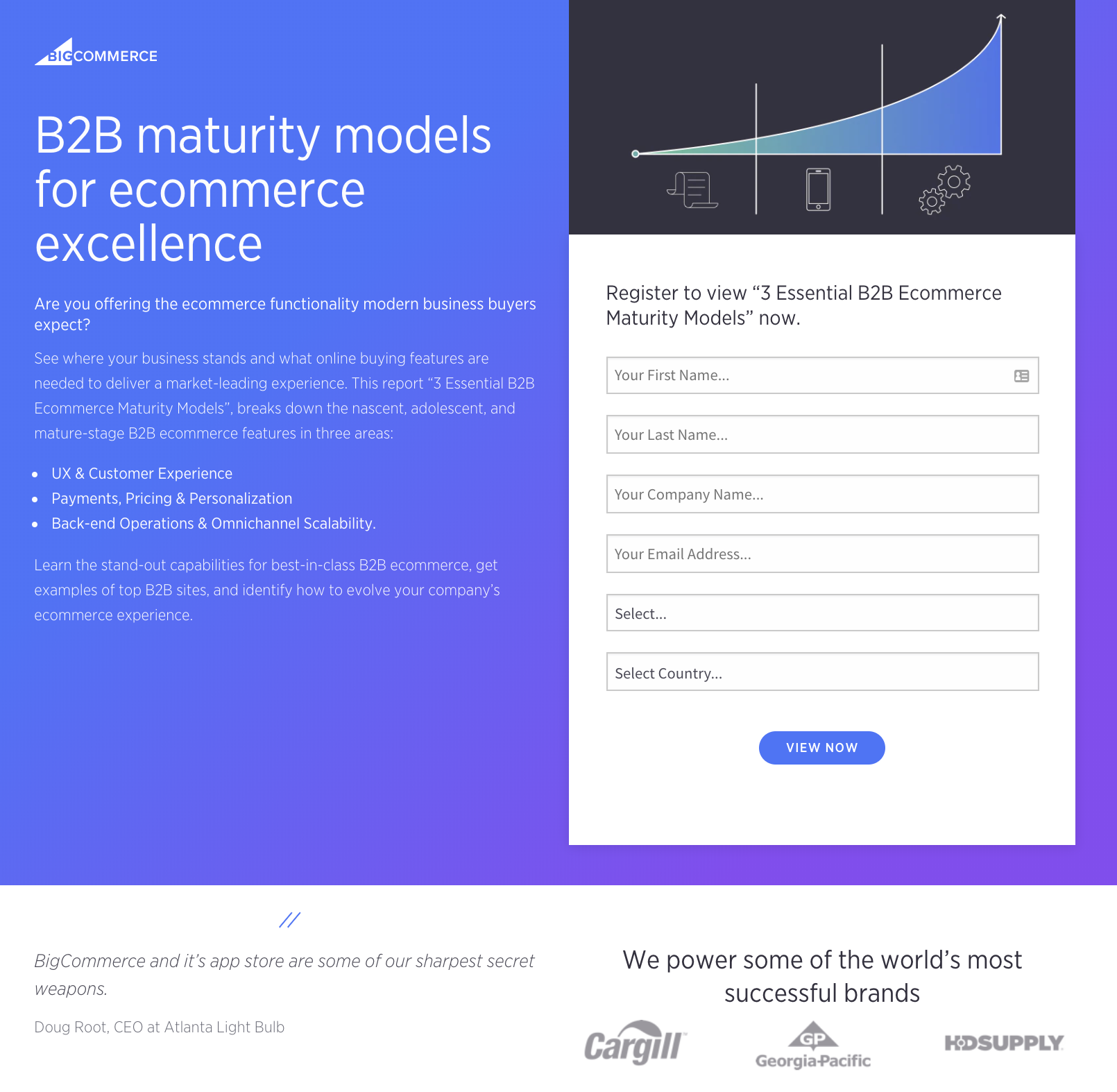 bigcommerce dedicated landing page.