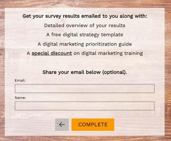 digital iq quiz lead magnet example 2.