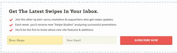 email swipe file - free content upgrade.
