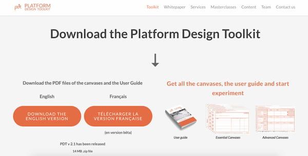 platform design toolkit lead magnet.