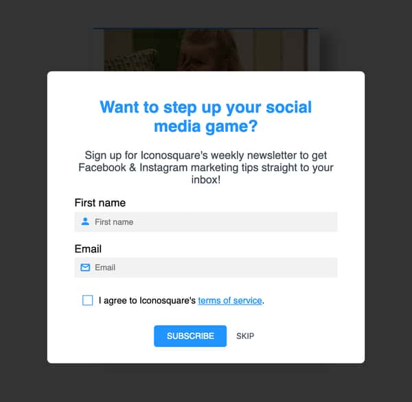 quiz instagram strategy iconosquare blog content email signup.