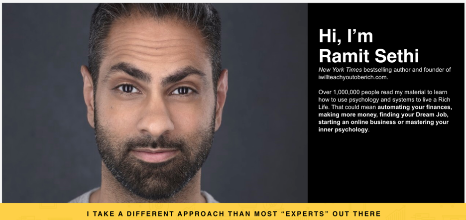 Ramit Sethi's website.