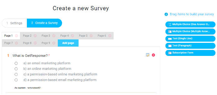 Using GetResponse Surveys to test new employees.