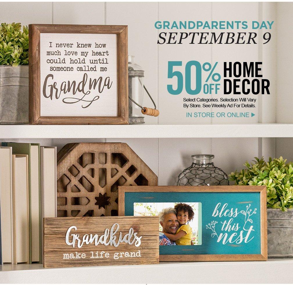 рассылка по случаю дня бабушек и дедушек с подборкой элементов домашнего декора