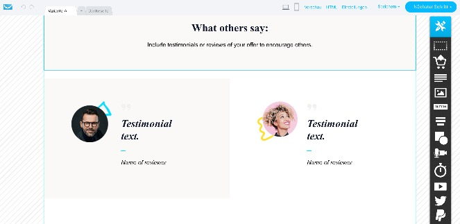 GetResponse hat bereits einige Vorlagen für E-Books und Broschüren, die du deinen Kunden bieten kannst.