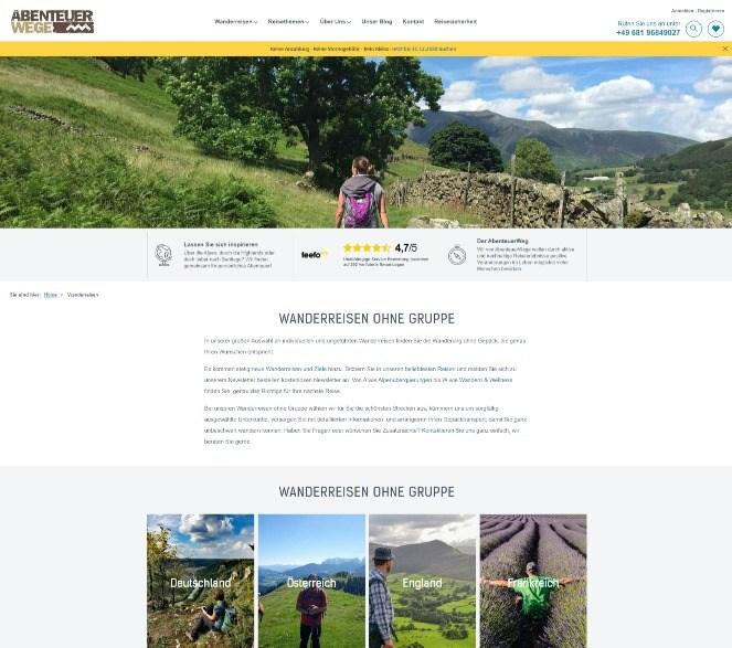 Автоматизация информации на туристическом сайте
