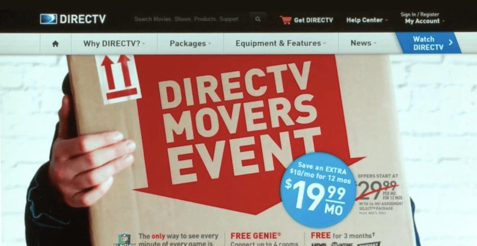DirectTV data-driven marketing example.