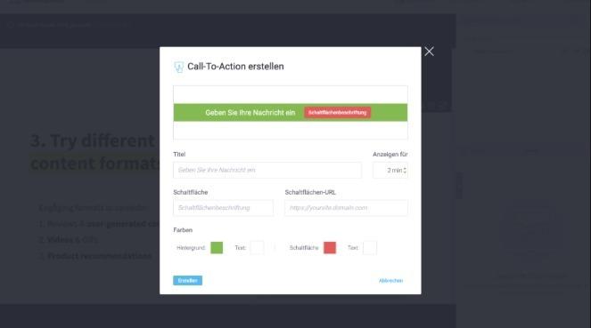 Mit Call-to-Action-Buttons können deine Webinar-Teilnehmer sich dein Angebot sichern.