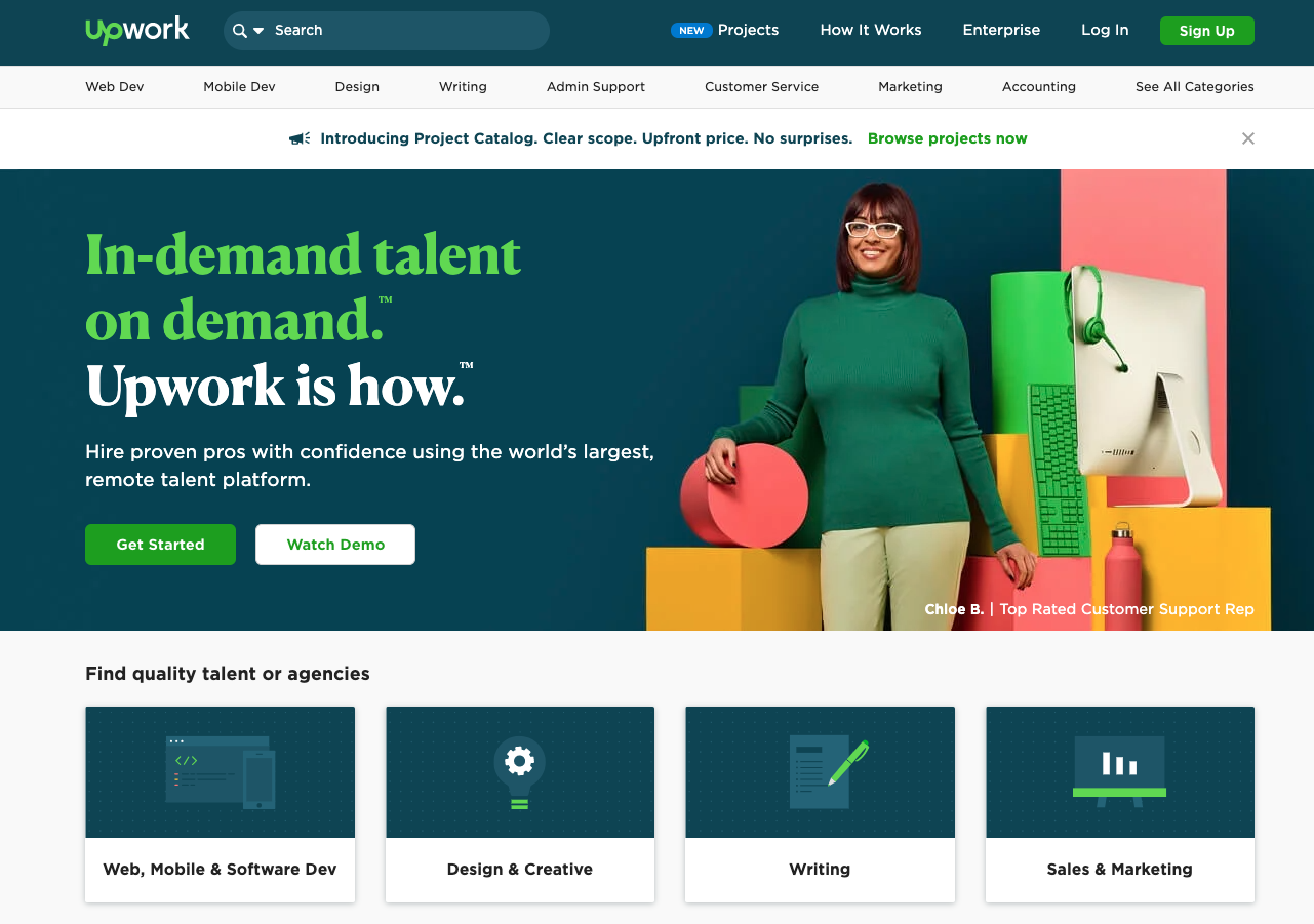 UpWork the perfect solution for realtors to hire their VAs and other specialists.